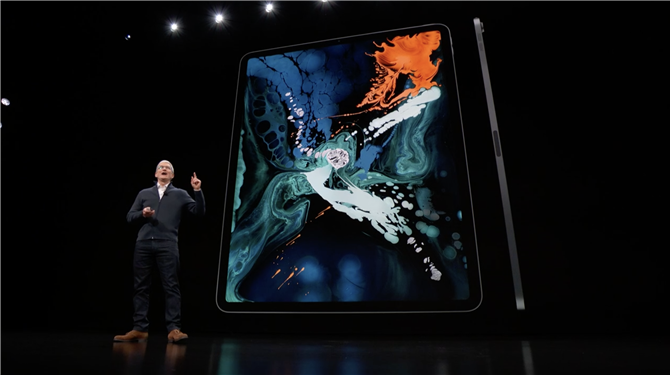 apple stellt das neue 2018 ipad pro mit vollbild design. Black Bedroom Furniture Sets. Home Design Ideas